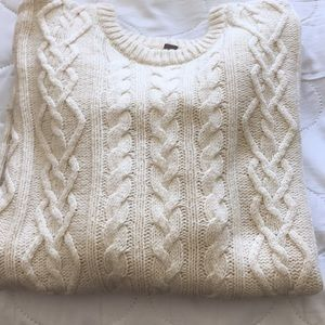 Fossil Cream Cable Knit Sweater